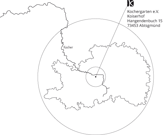 Ostalbkreis Karte.Ostalbkreis Mit Wirkungskreis Kochergarten E V