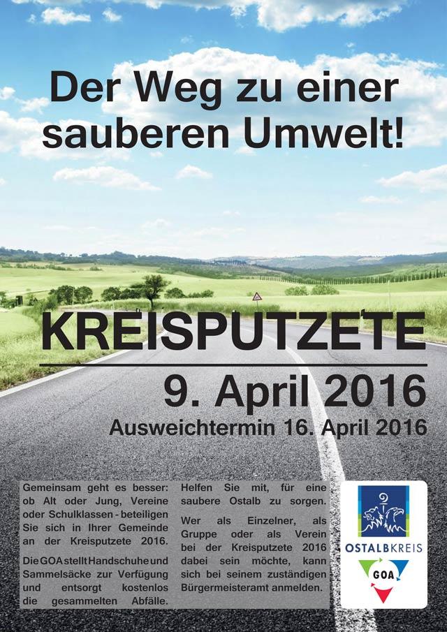Plakat zur Kreisputzete 2016