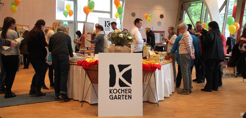 Kochergarten mit Gmünder Lädle bei Weleda Gesundheitsmarktplatz